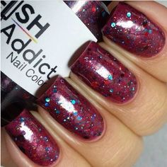 Dark Kisses swatched by @Renee Peterson Shellman Loon now available at www.polishaddictnailcolor.com