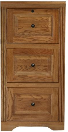 166 Two-Drawer Oak File Cabinet with Raised Side Panels | Drawers ...