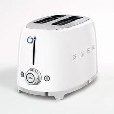 White Toaster, Smeg Toaster, Retro Toaster, Retro Kitchen Appliances, Specialty Appliances, Small Appliances, 50 Style, Retro Style, Retro Refrigerator