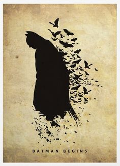 Batman póster silueta