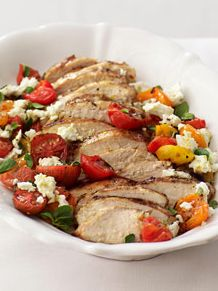 Grilled Chicken with Greek Flavors! Love this healthy grill recipe! | country living