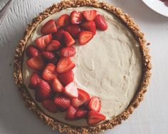 Mascarpone Pretzel Strawberry Tart