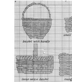 Basket Sampler cross stitch chart 3 of 4