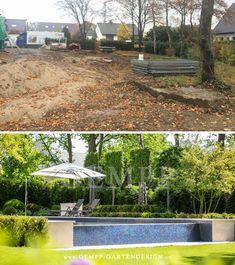 Fantastisch Moderne Gartengestaltung Mit Swimmingpool: Vorher / Nachher Bilder Dieses  Exklusiven Gartendesigns / Gartenarchitektur #gartengestaltung