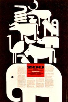 Cipe Pineles: Zoo - Parsons' Design for Environment Competition poster Illustration Photo, Graphic Design Illustration, Graphic Design Posters, Typography Design, Brainstorm, Plakat Design, Animal Posters, Design Graphique, Environmental Design