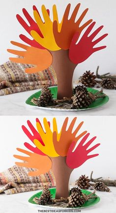 Fall Handprint Tree - love this fun handprint tree idea! An easy fall craft for kids. Fall Crafts For Toddlers, Easy Fall Crafts, Thanksgiving Crafts For Kids, Halloween Crafts For Kids, Craft Activities For Kids, Holiday Crafts, Fun Crafts, Tree Crafts, Bonfire Crafts For Kids