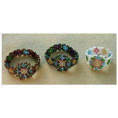Huichol Cigar Band Ring Pattern | Bead-Patterns.com