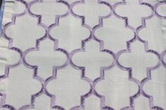 Lavender Trellis Eleta Fabric By The Yard Curtain by FabricMart
