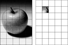 Using a Grid to Enlarge and Transfer an Image to Canvas Drawing Grid, Value Drawing, Art Handouts, Gcse Art Sketchbook, 8th Grade Art, Value In Art, Art Worksheets, Drawing Exercises, Elements Of Art