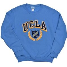 UCLA Script in Logo Crewneck Sweatshirt - Navy 50/50 cotton ...