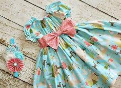 Girls Holiday Peasant dress, Baby dresses, newborn dresses, peasant dresses Winter wonderland