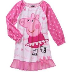 Girls Peppa Pig Nightgown/Pajama Dress New with Tags Long Sleeve!! Size 4T ~ HTF #Nickelodeon #PajamaSet