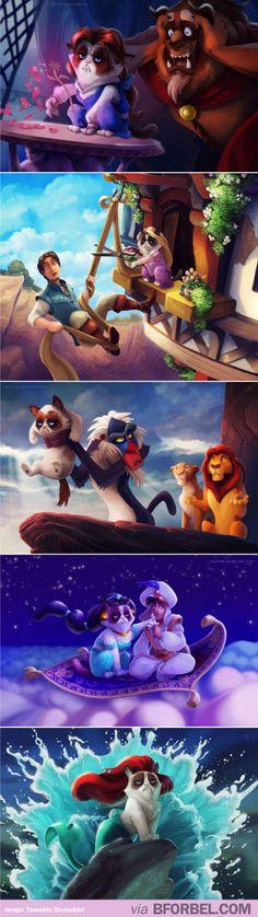 If Grumpy Cat starred in Disney movies…