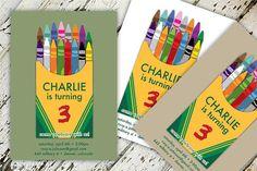 Child's Crayon Birthday Invitation by CreateCapture on Etsy, $15.00