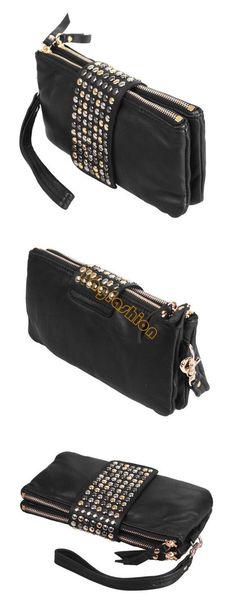 Barato Estilo coreano moda PU Leather Handbag Designer Rivet Lady carteira Bolsa Clutch Bag Evening gota 4004, Compro Qualidade Partes de mochila & acessórios diretamente de fornecedores da China: