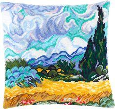 Пшеничное поле с кипарисом V-159 / Чарівниця / Наборы для вышивки подушек полукрестом / Вышивание на Zinzilin.com