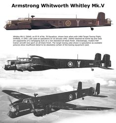 Whitley Mk.V Air Force Aircraft, Ww2 Aircraft, Fighter Aircraft, Military Aircraft, Fighter Jets, Fighting Plane, Ah 64 Apache, Flying Wing, Ww2 Pictures