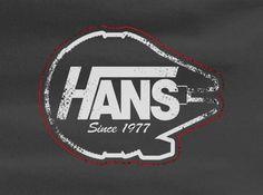 Hans Vans Skateboard Shoes parody Star Wars Tee T-Shirt