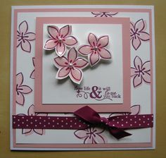 Stampin Up Demonstrator - Lynne Fahey (Spiralz and Curlz): Card using Cottage garden stamp set