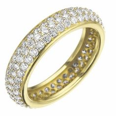 Bombe Pave Band in Yellow Gold