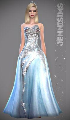 Sets Flutter ( Dress, Bottom Shorts) at Jenni Sims via Sims 4 Updates