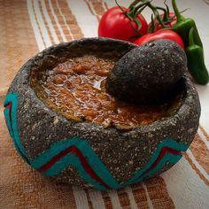 Salsa de Molcajete (Molcajete Salsa)   Mexican Food Memories