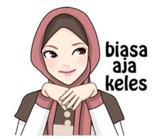 Buat chat kamu lebih asyik dengan Hijab Gaul Stiker :D Cartoon Jokes, Cartoon Kids, Face Images, Funny Images, Pastel Color Background, Moslem, Cute Couple Drawings, Islamic Cartoon, Anime Muslim
