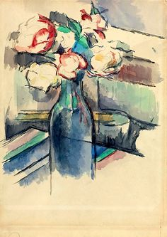 Paul Cézanne Roses in a Bottle 1900/1904