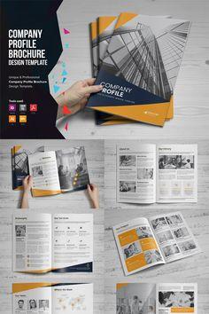 Company Profile Brochure Corporate Identity Template, #Ad #Brochure #Profile #Company #Template Corporate Profile, Corporate Brochure Design, Company Brochure, Brochure Layout, Corporate Flyer, Corporate Identity, Brochure Template, Identity Branding, Visual Identity