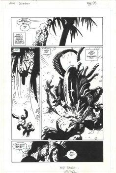 M. Mignola - Aliens: Salvation Comic Art