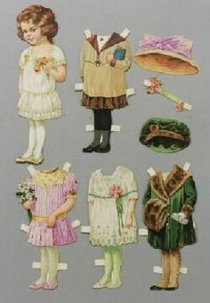 Paper Doll   Raphael Tuck & Sons Bonnie Series #66 Betty Outfits