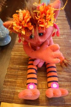 Flower  Baby  Hand Puppet | TheMushroomsDoor - Toys on ArtFire