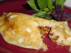 Stuffed Pancakes-these are wonderful!! I've made them for my family using fruit salad as the stuffing, yum!