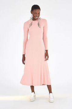 OPEN BACK MIDI DRESS – Farm Rio Dot Dress, Ruffle Dress, Striped Dress, Short Dresses, Dresses For Work, Dresses With Sleeves, Beloved Clothing, Maxi Wrap Dress, Dream Dress