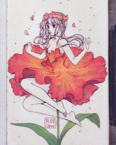 Art Drawings Sketches Simple, Cool Drawings, Art And Illustration, Arte Do Kawaii, Art Inspiration Drawing, Estilo Anime, Cartoon Art Styles, Art Sketchbook, Anime Art Girl
