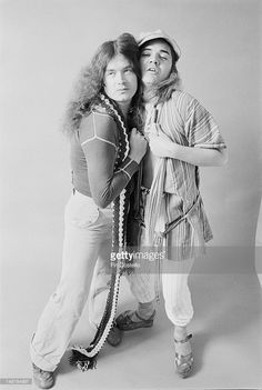 Bassist Glenn Hughes and guitarist Tommy Bolin from English rock...