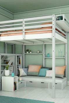 marvelous teen girl bedroom bunk bed   17 Marvelous Space-Saving Loft Bed Designs Which Are Ideal ...