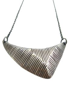 Apex Necklace - oxidized sterling silver - Sharon Z Jewelry - by Sharon Zimmerman