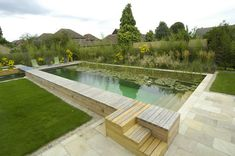 natural swimming pools. no chlorine. filtered by plants. awesome.