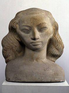 John Rädecker, Head of a woman, 1920 - 1921 – © Kröller-Müller Museum Graffiti, Street Art, Female Head, Small Sculptures, Bronze, Historian, Graphic, Art History, Sculpting