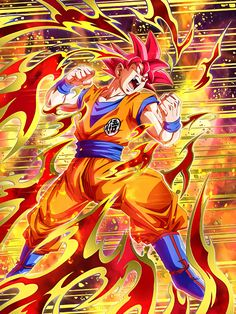 [Fateful Strike] Super Saiyan God Goku/Dragon Ball Z: Dokkan Battle Dragon Ball Gt, Anime Echii, Anime Art, Dragon Super, Z Wallpaper, Dragon Images, Enter The Dragon, Animes Wallpapers, Art Graphique