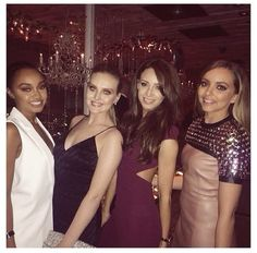 Danielle with Jade, Leigh anne and Perrie