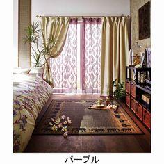 エキゾチックインテリアなら、レースのカーテンを色付きにすると怪しげにエキゾチック パープル・紫色ののカーテンで… My Room, Oriental, Shabby Chic, Loft, Curtains, Interior Design, Color, Home Decor, New Homes
