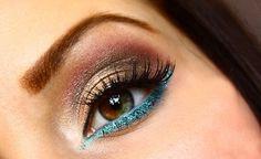 beauty makenup eyes, eyeliner blue eyeliner