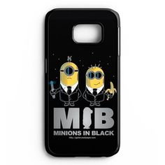 Mib Minions In Black Samsung Galaxy S6 Edge Plus Case