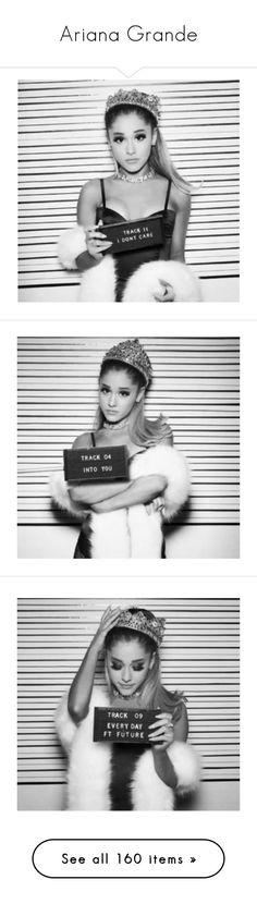 """""""Ariana Grande"""" by angelhernandez21 ❤ liked on Polyvore featuring ariana grande, dangerous woman, people, pictures black and white, backgrounds, ariana, pictures, girls, ari and hair"""