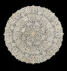 Parasol cover of Belgian lace ~ late 19th century
