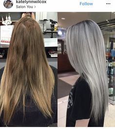 silver hair highlights (notitle) Best Picture For Hairstyle for school messy For Your Tast Silver Hair Highlights, Platinum Blonde Hair, Ash Blonde Hair Silver, Silver Platinum Hair, Ashy Blonde Hair, Long Silver Hair, Silver Ombre, Blonde Hair Looks, Balayage Hair