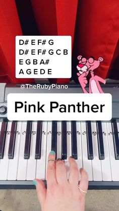 Piano Songs For Beginners, Beginner Piano Music, Easy Piano Sheet Music, Piano Sheet Music Letters, Piano Music Notes, Panthères Roses, Song Notes, Music Chords, Piano Tutorial
