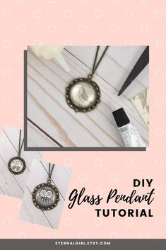 Looking for simple gift ideas? Get this free DIY glass pendant tutorial, which uses glass tiles to make a handmade photo necklace. #pendantnecklace #pendantjewelry #glasstilependant #glasstilenecklace #glasstilejewelry #simplenecklace #simplejewelry #diypendant #diynecklace #diygiftideas #giftideas #birthdaygifts #photopendant #photonecklace